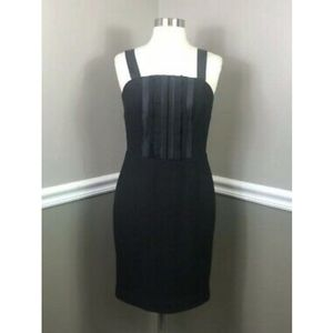 Banana Republic Ruffle Bib Dress in Black size 2